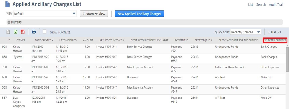 NetSuite Ancillary Charges Suiteapp